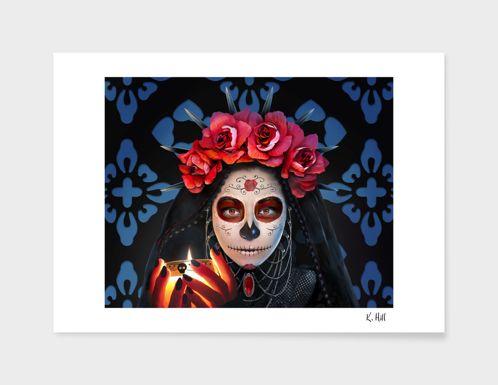 Dia de los Muertos (Day of the Dead) - Rose