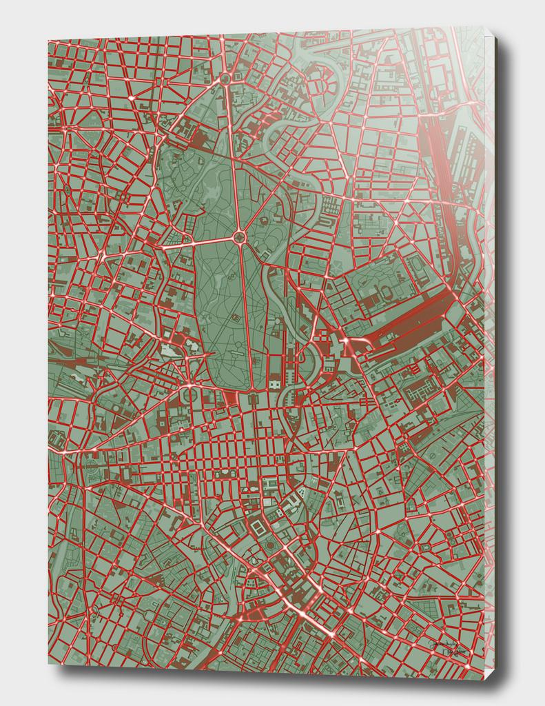 Berlin city map pop