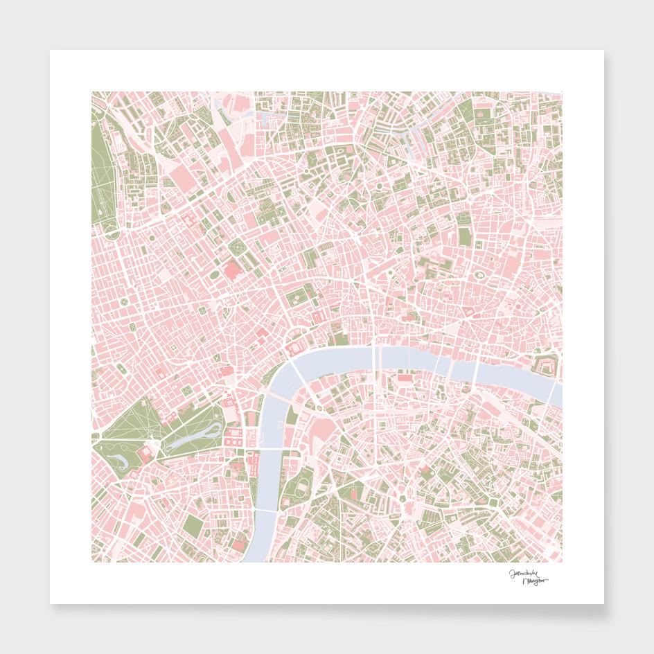London city map vintage
