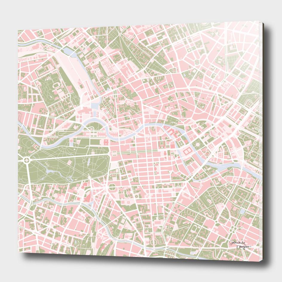 Berlin city map vintage
