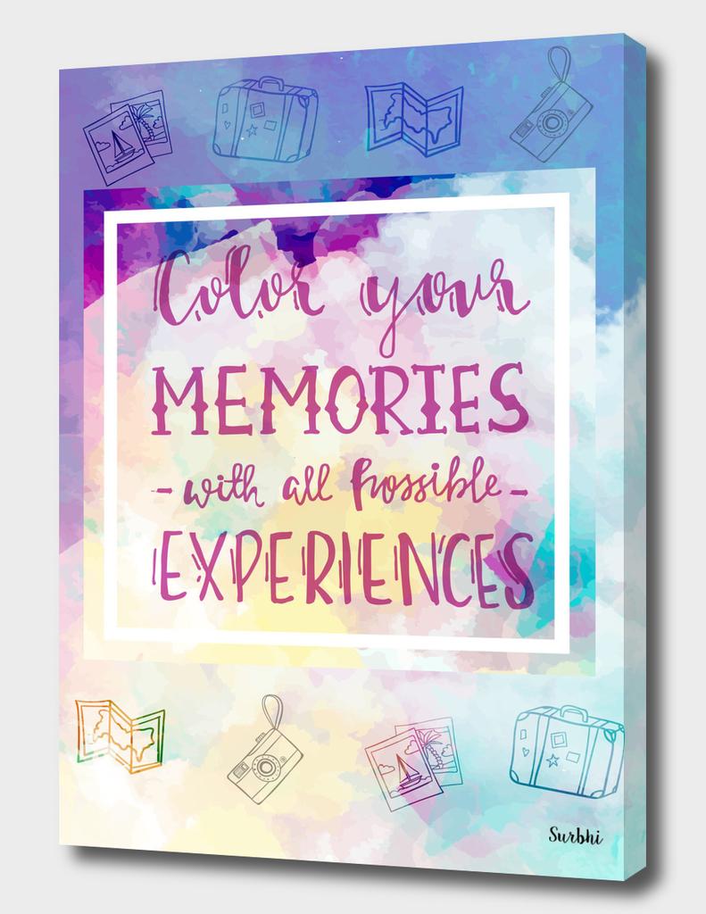 Color your memories