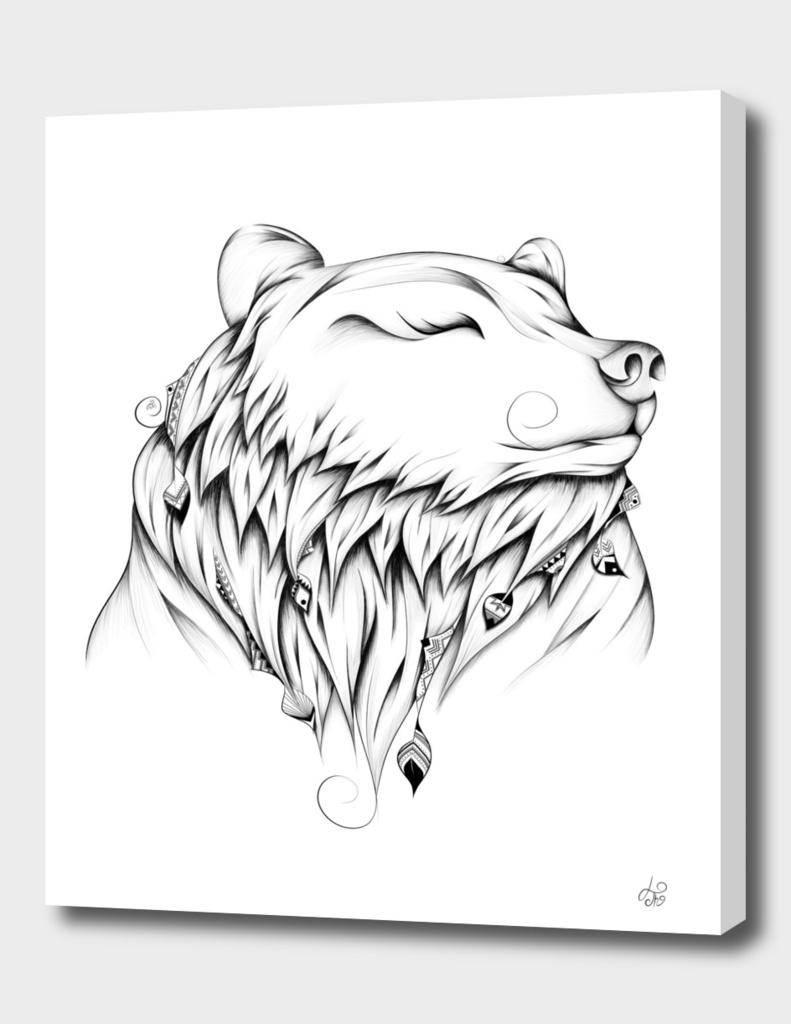 Poetic Bear B&W