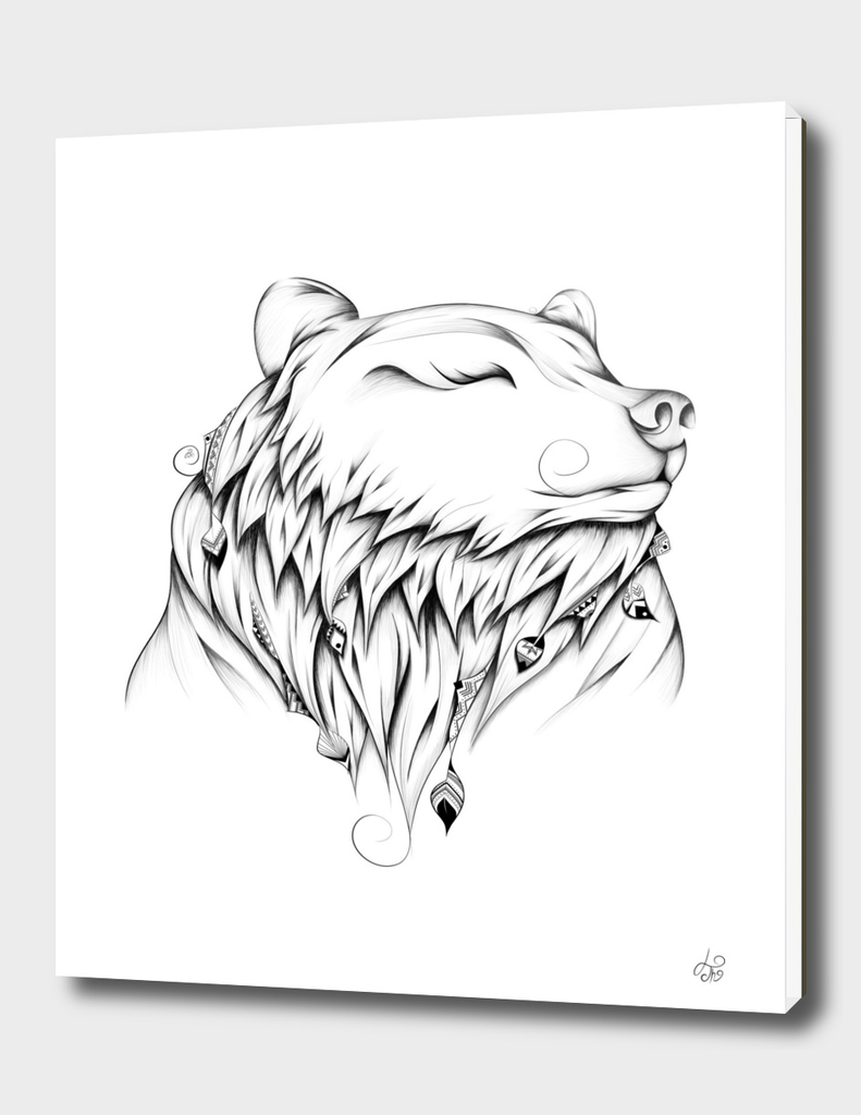 Poetic Bear B&W