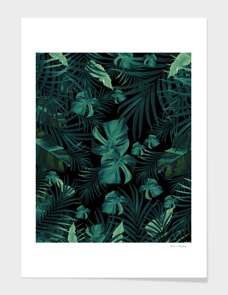 Tropical Jungle Night Leaves Pattern #1 (2020 Edition)