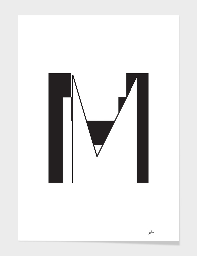 Typography letter M