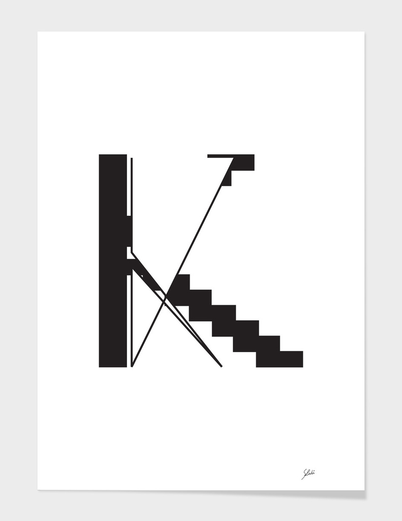 Typography letter K