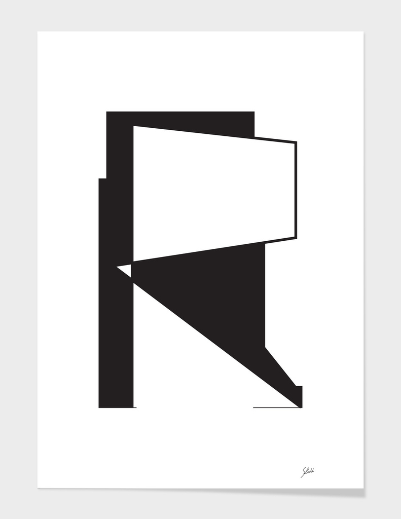 Typography letter R
