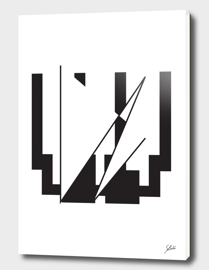 Typography letter W