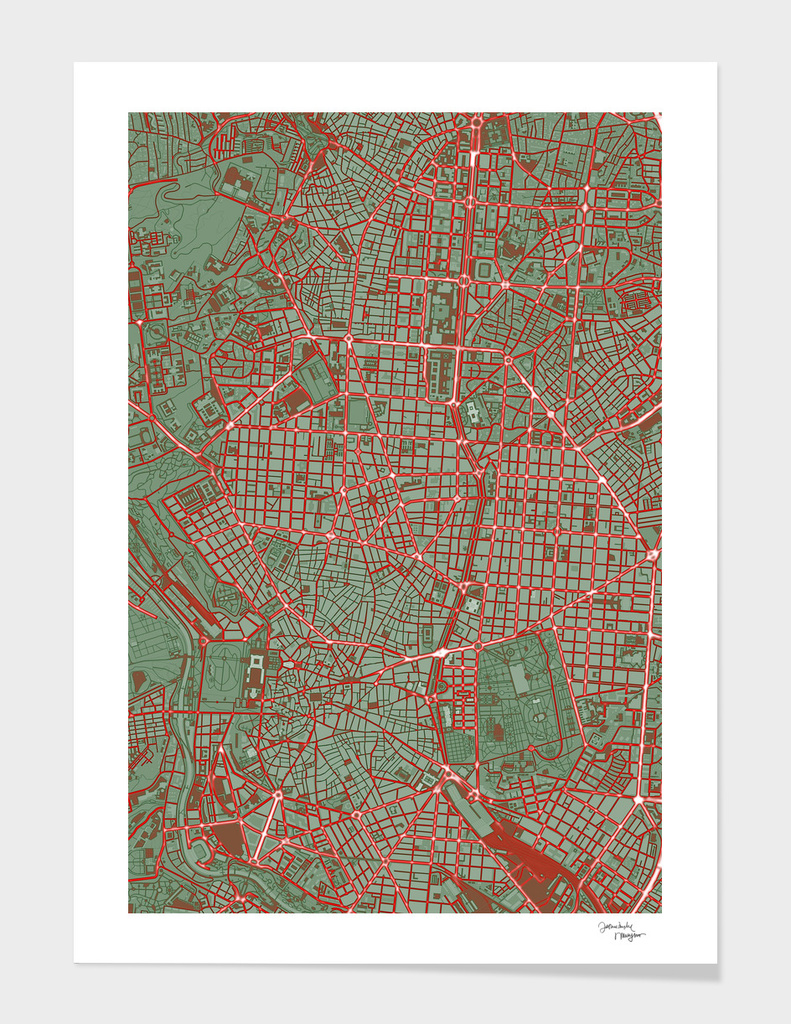 Madrid city map pop