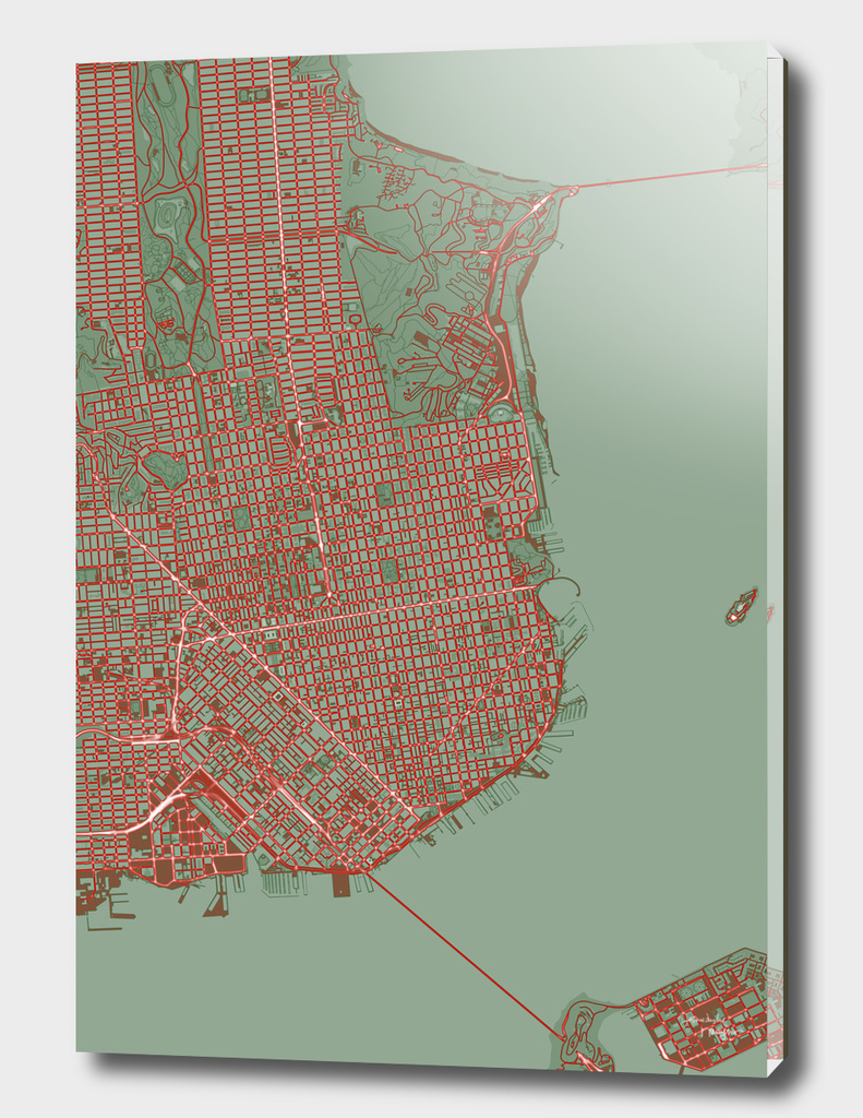 San Francisco city map pop