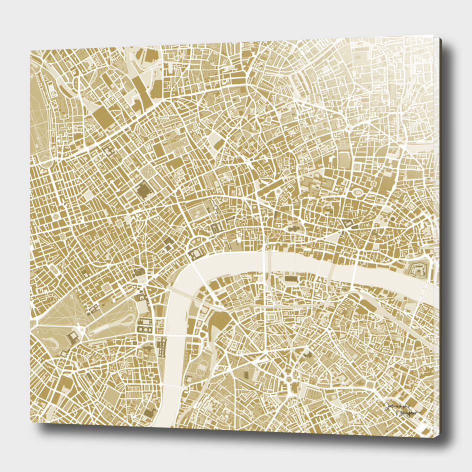 London city map gold