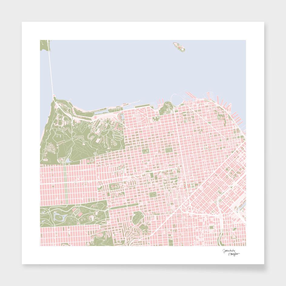 San Francisco city map vintage