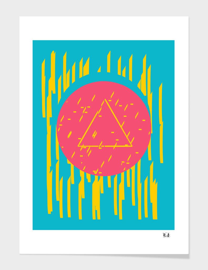 Pop-Pyramid Graphic Flashy 80's