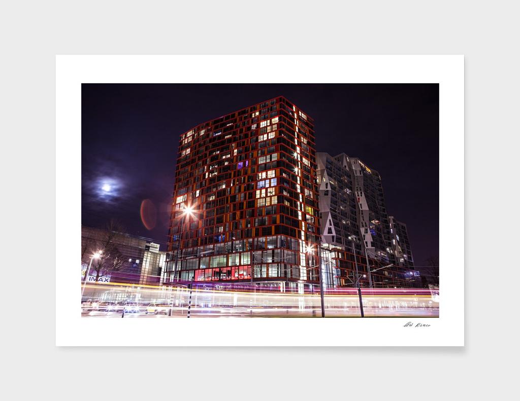 Moving tram (Rotterdam).