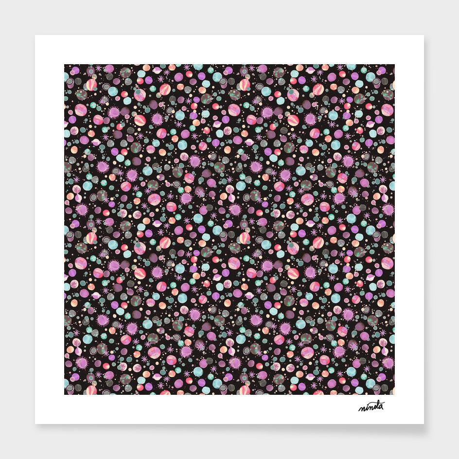 Pink constellations pattern