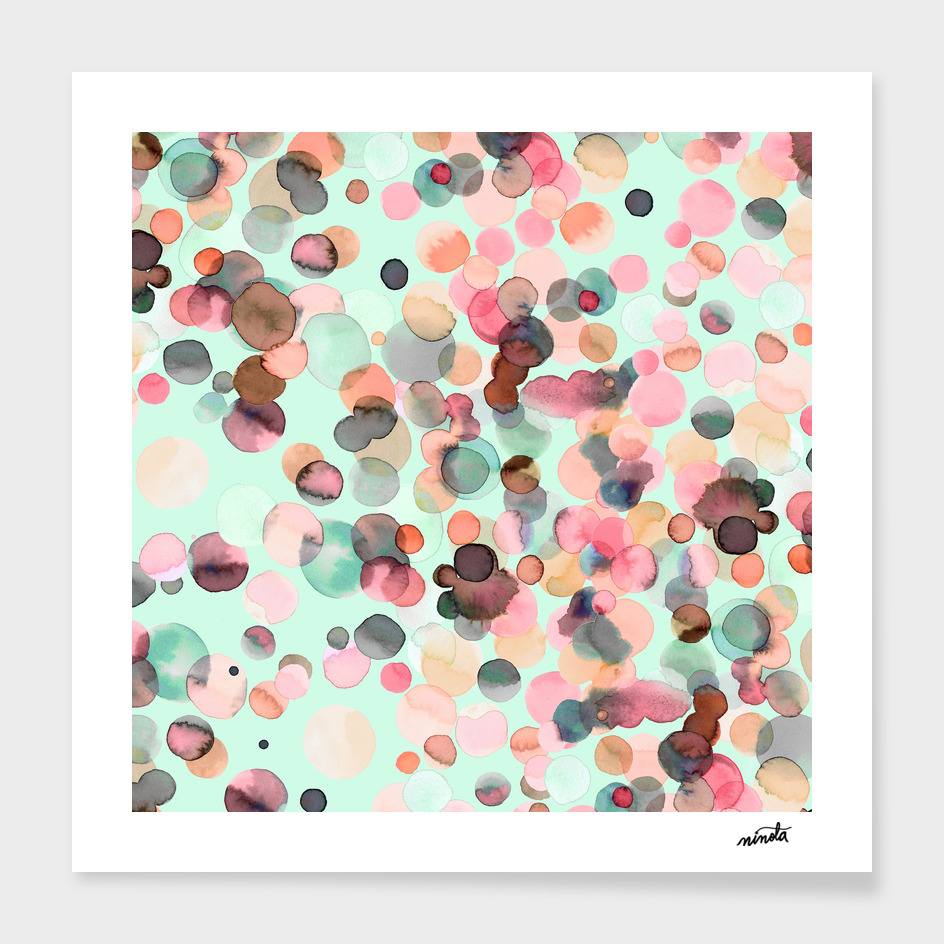 Pastel watercolor bubbles