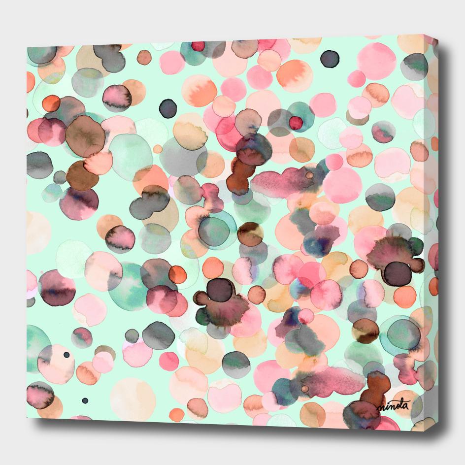 Pastel watercolor bubbles