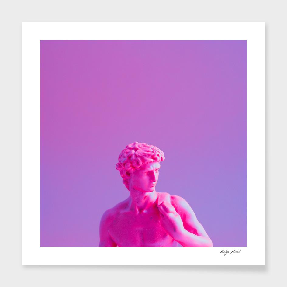 Purple Neon David