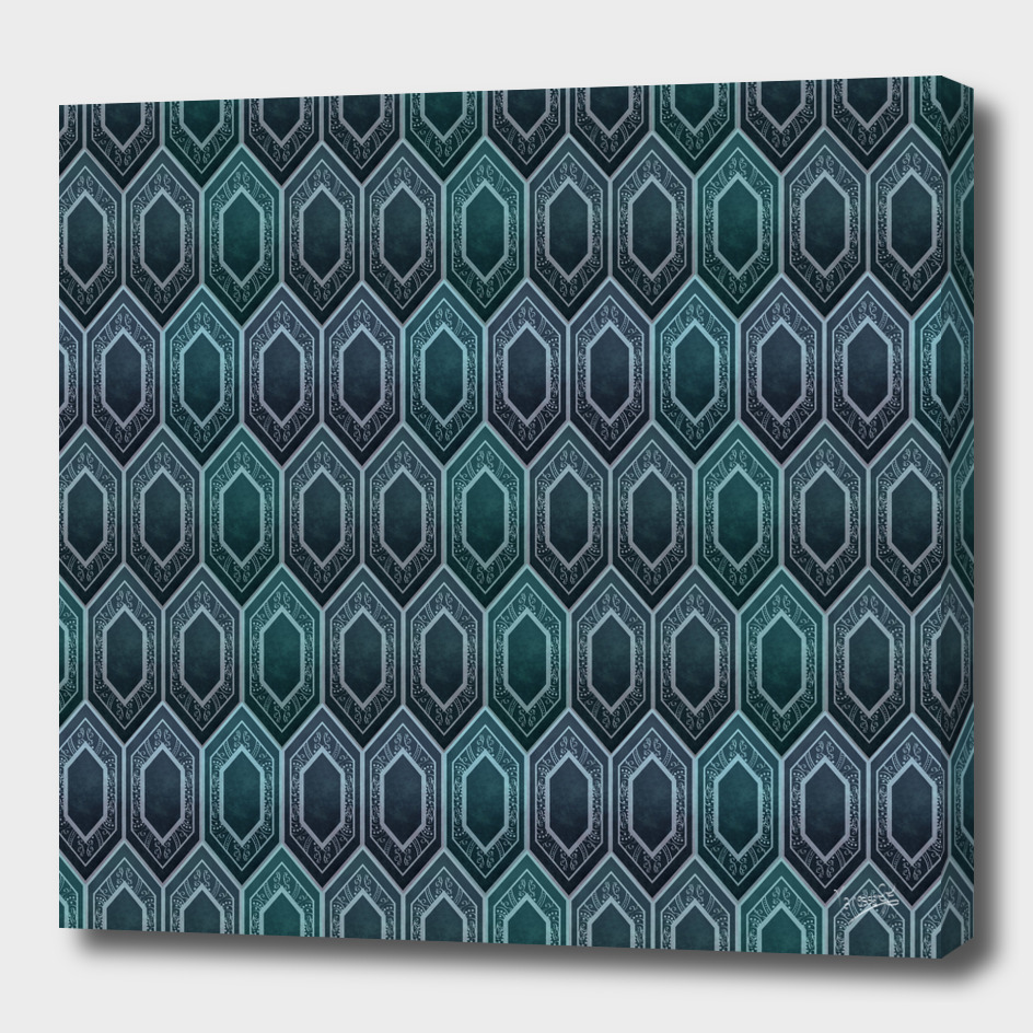 Tile. Turquoise and blue
