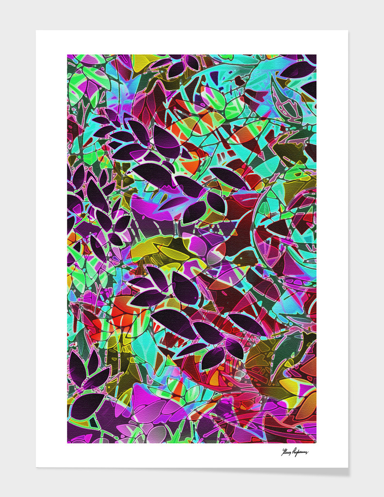 Floral Abstract Artwork G128