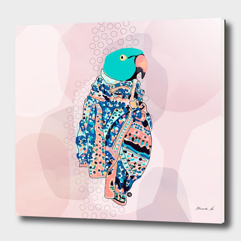 Bird and foulard
