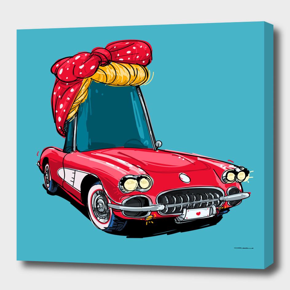 rideOrama red little corvette