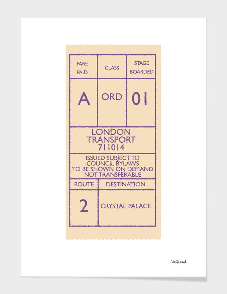 London Bus Ticket