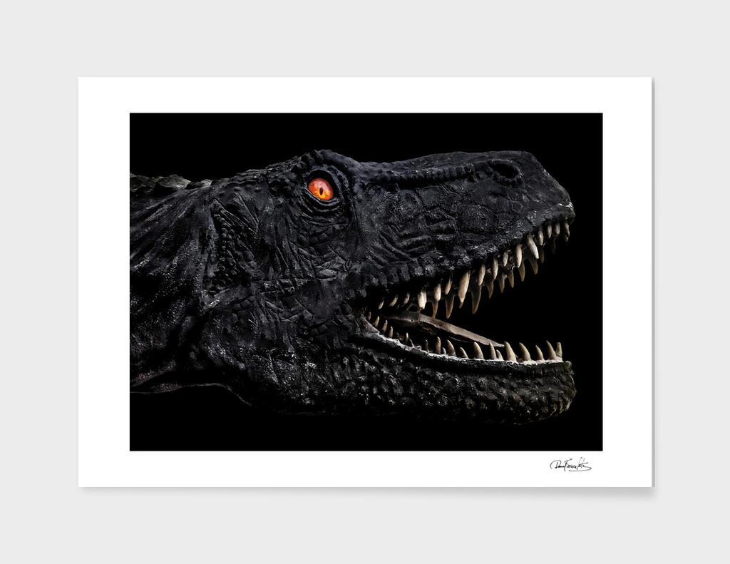 Trex Dinosaur Head Dark Poster