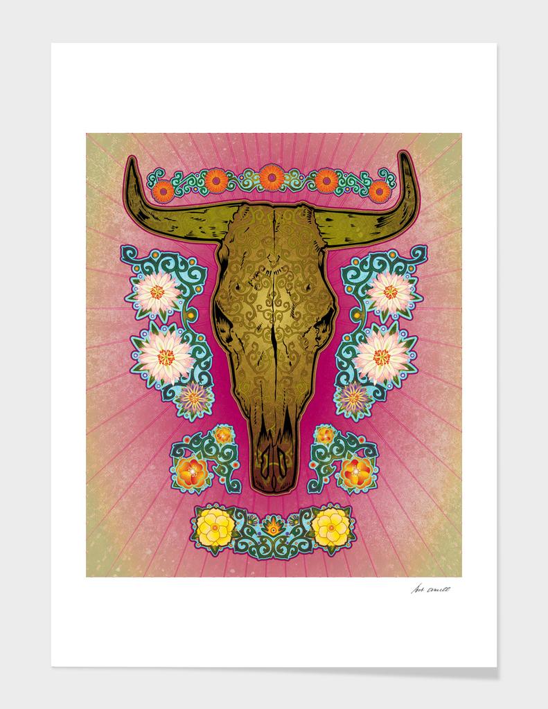 Cattle Skull Art