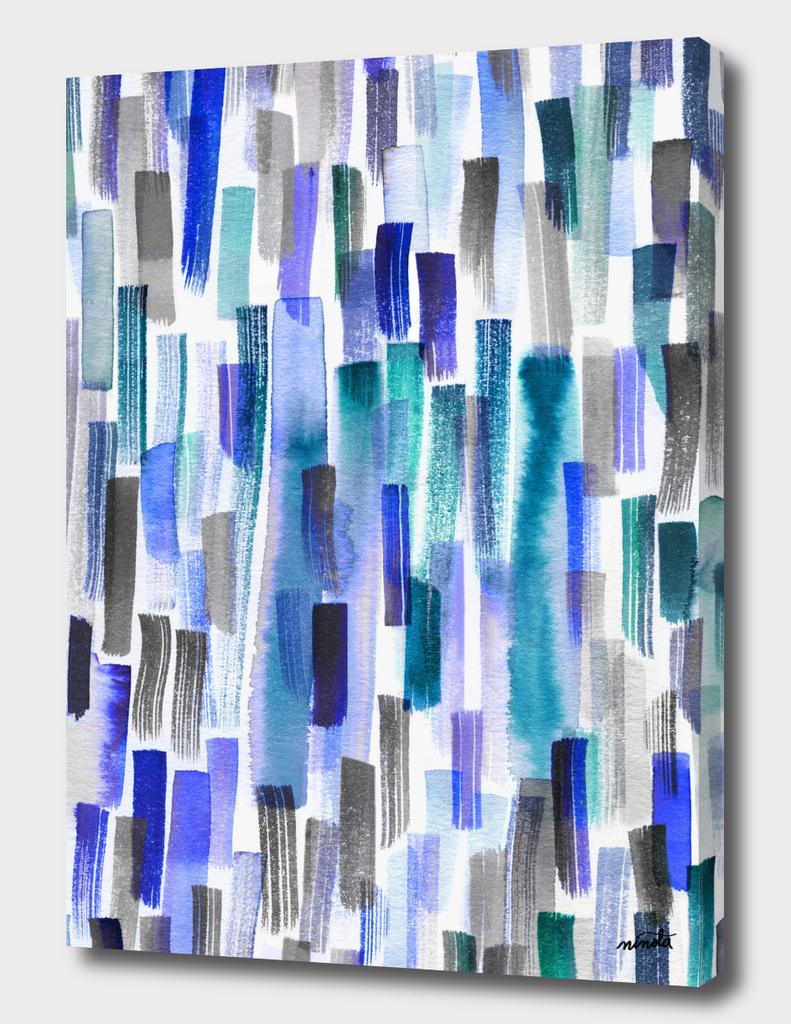 Blue brushstrokes watercolor