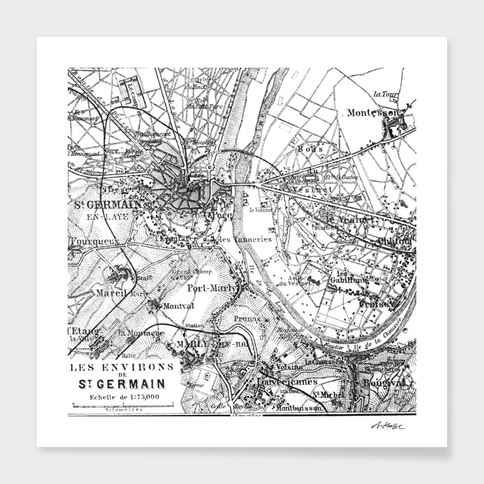 Vintage Paris Map Art Print By Andrea Haase Curioos