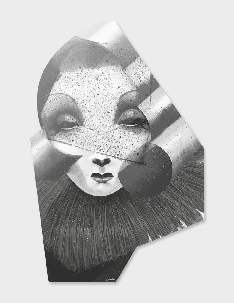 Stylish portrait of Marlene Dietrich