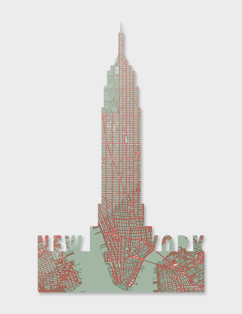 New York city map pop