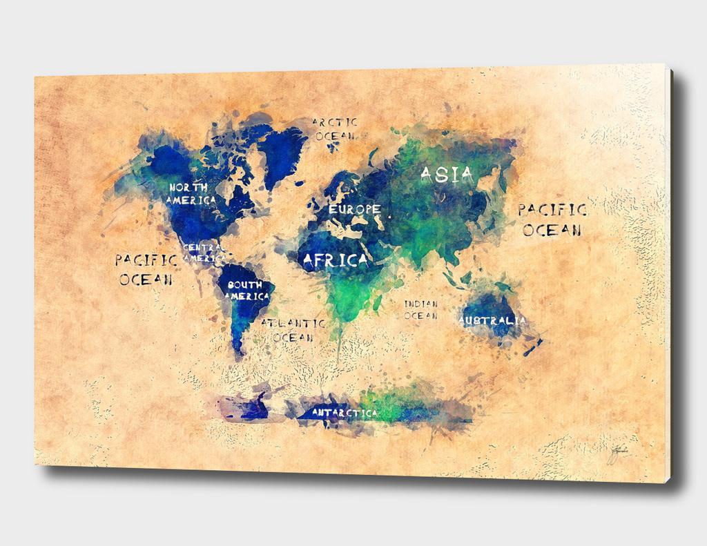 world map 14