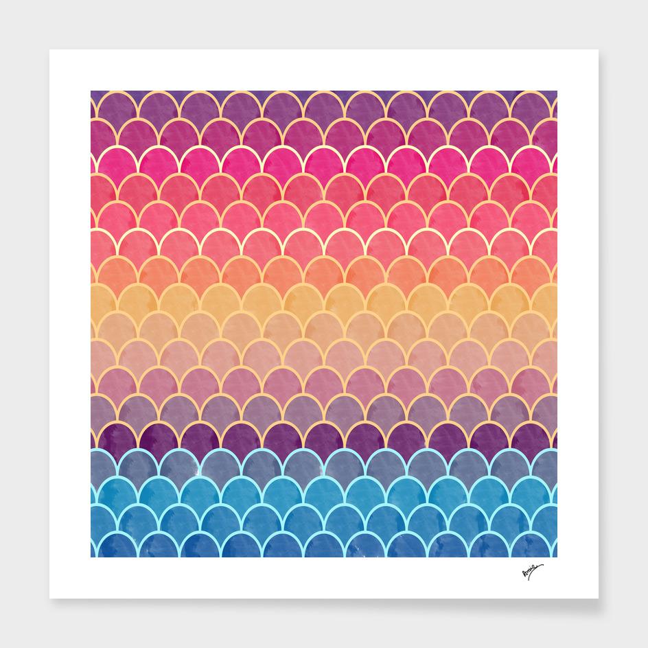 Watercolor Lovely Pattern III