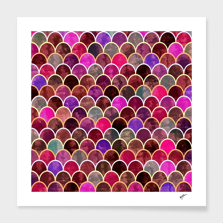 Watercolor Lovely Pattern V