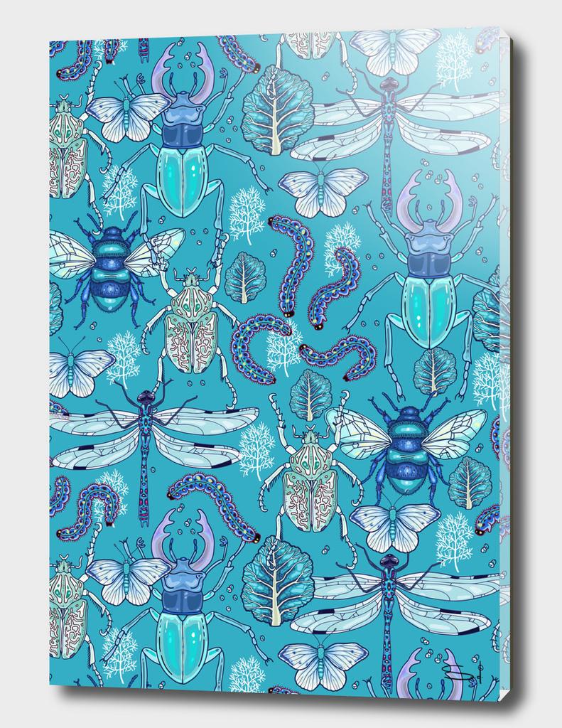 happy frozen blue bugs