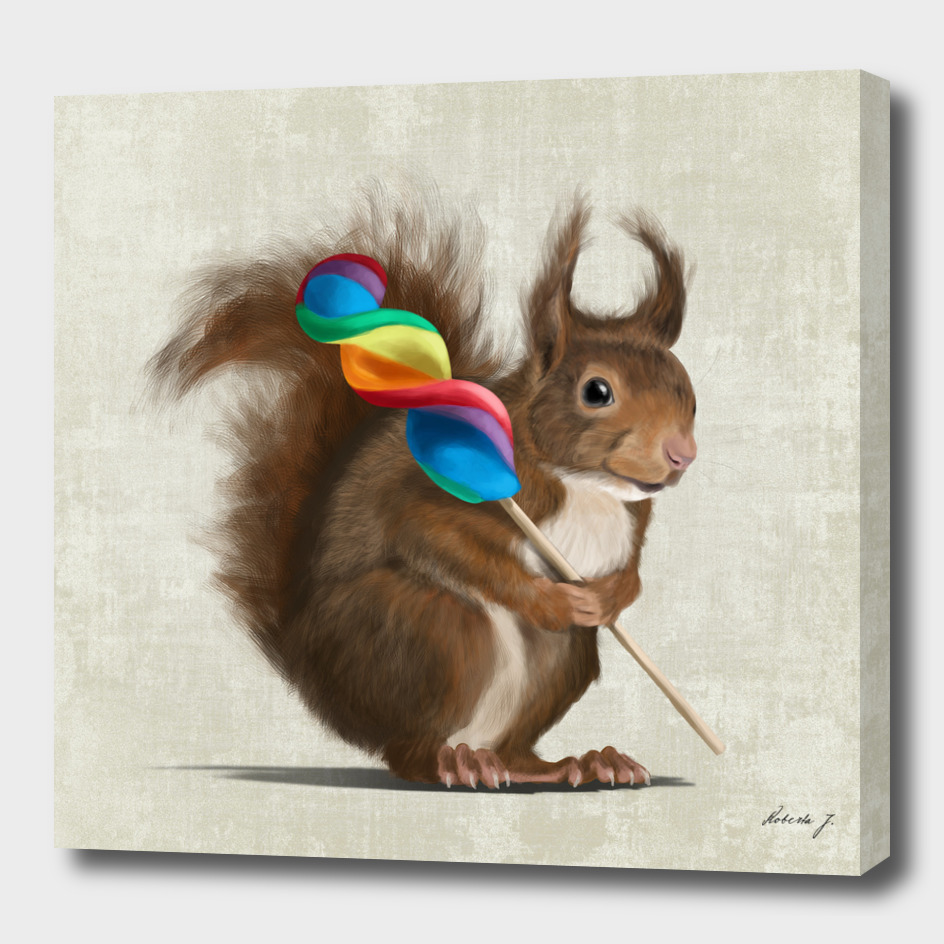 Squirrel with lollipop
