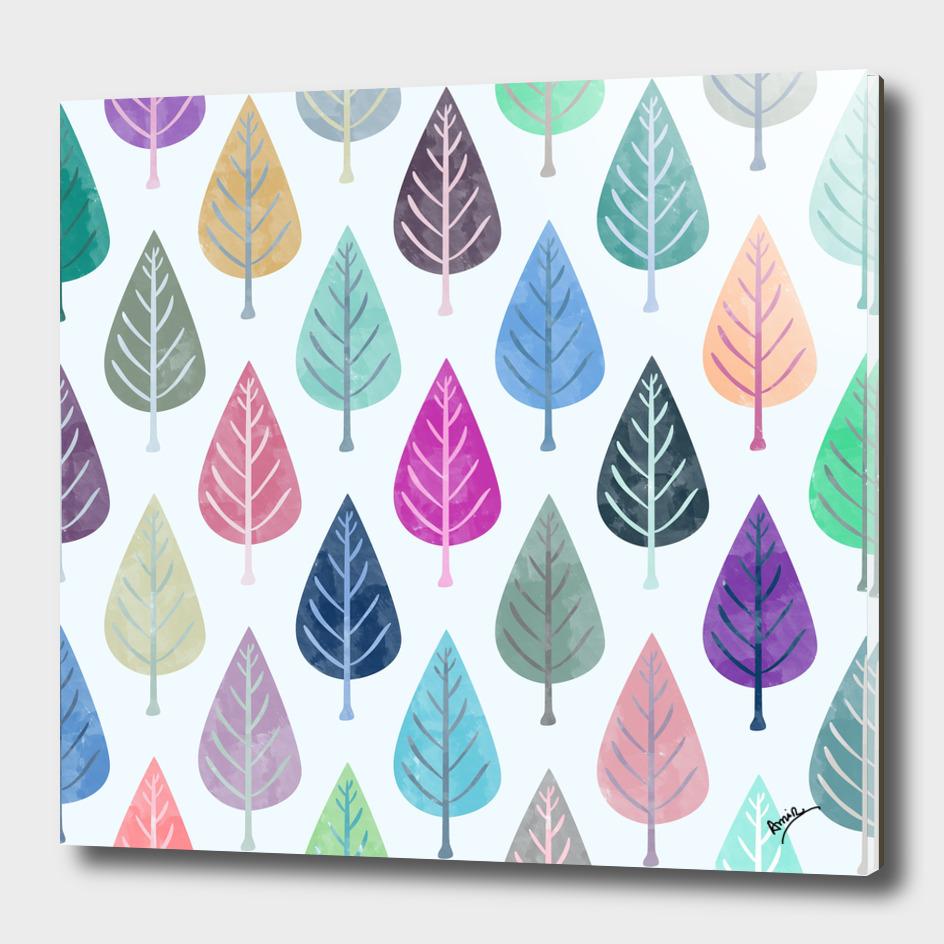 Watercolor Forest Pattern II