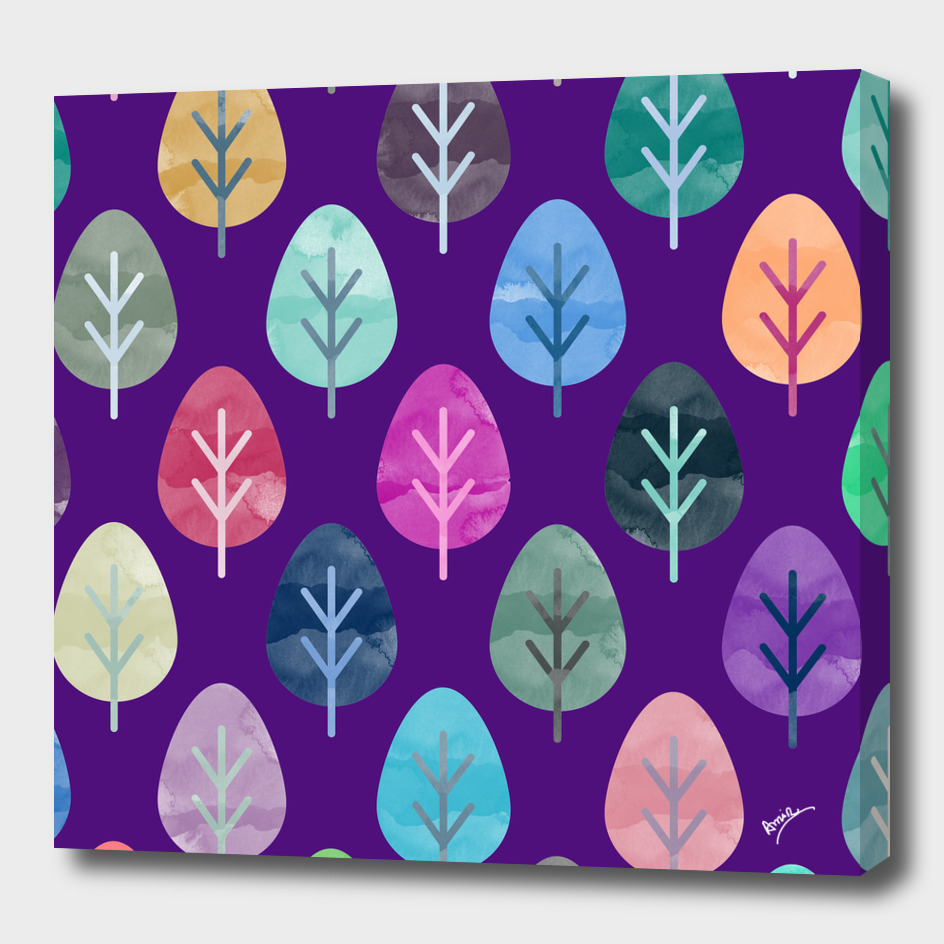Watercolor Forest Pattern