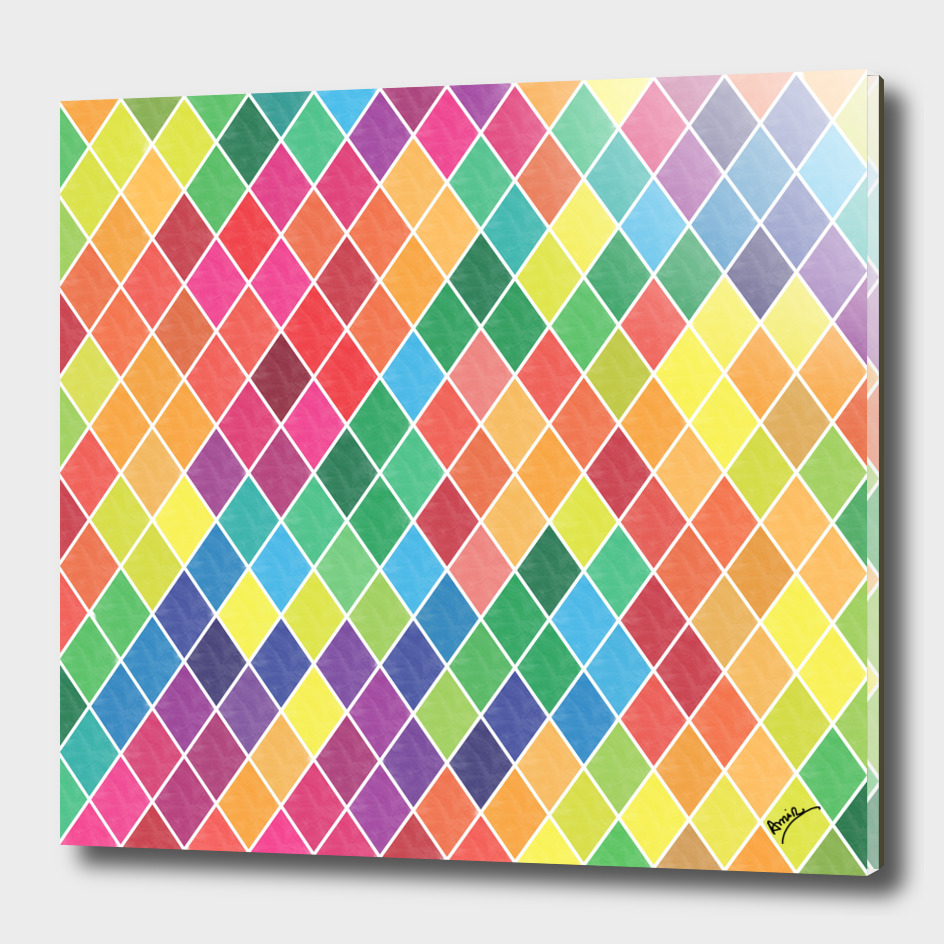 Watercolor Geometric Pattern