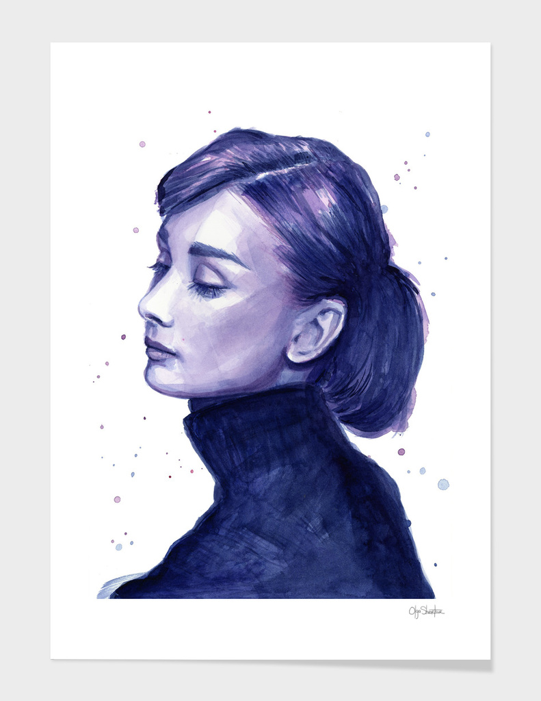 Audrey Hepburn Watercolor