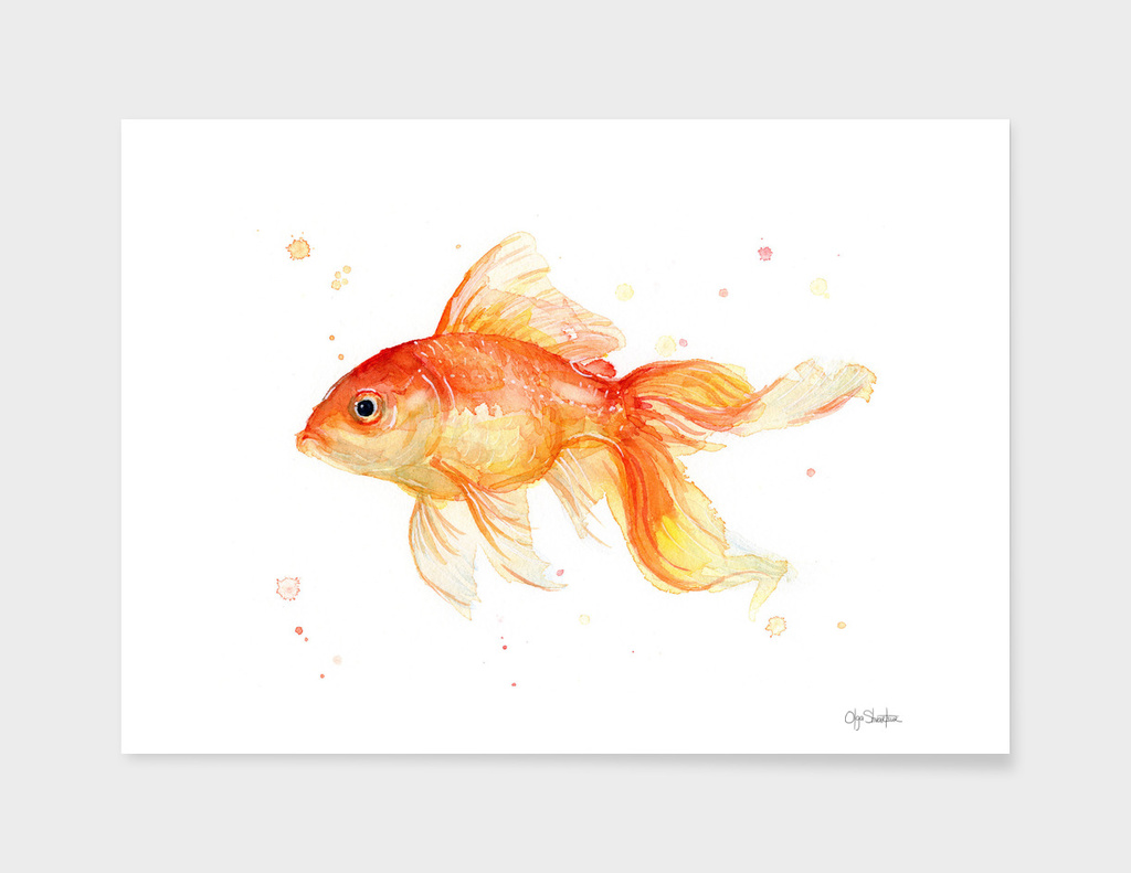 Goldfish Watercolor