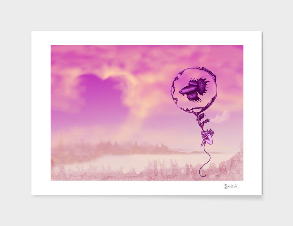 Love Angel Surreal art