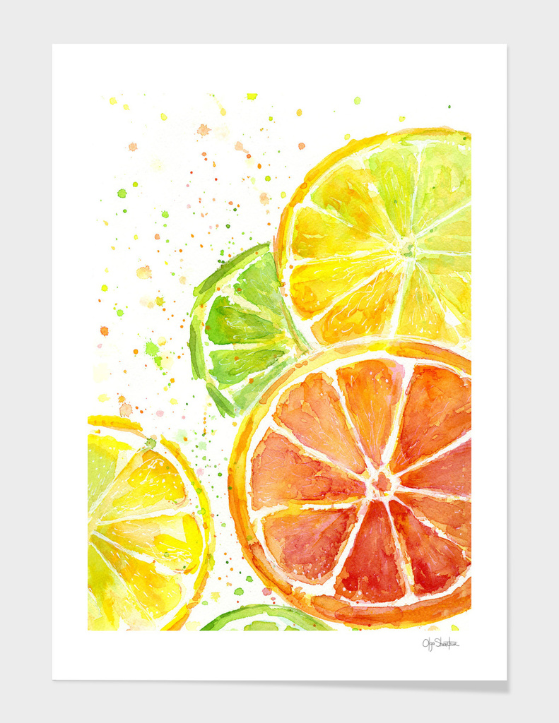 Juicy Citrus Watercolor
