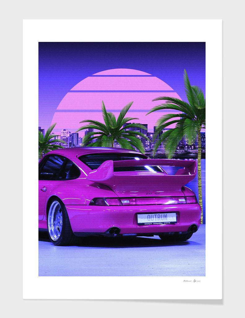 80s Porsche cars midnight outrun