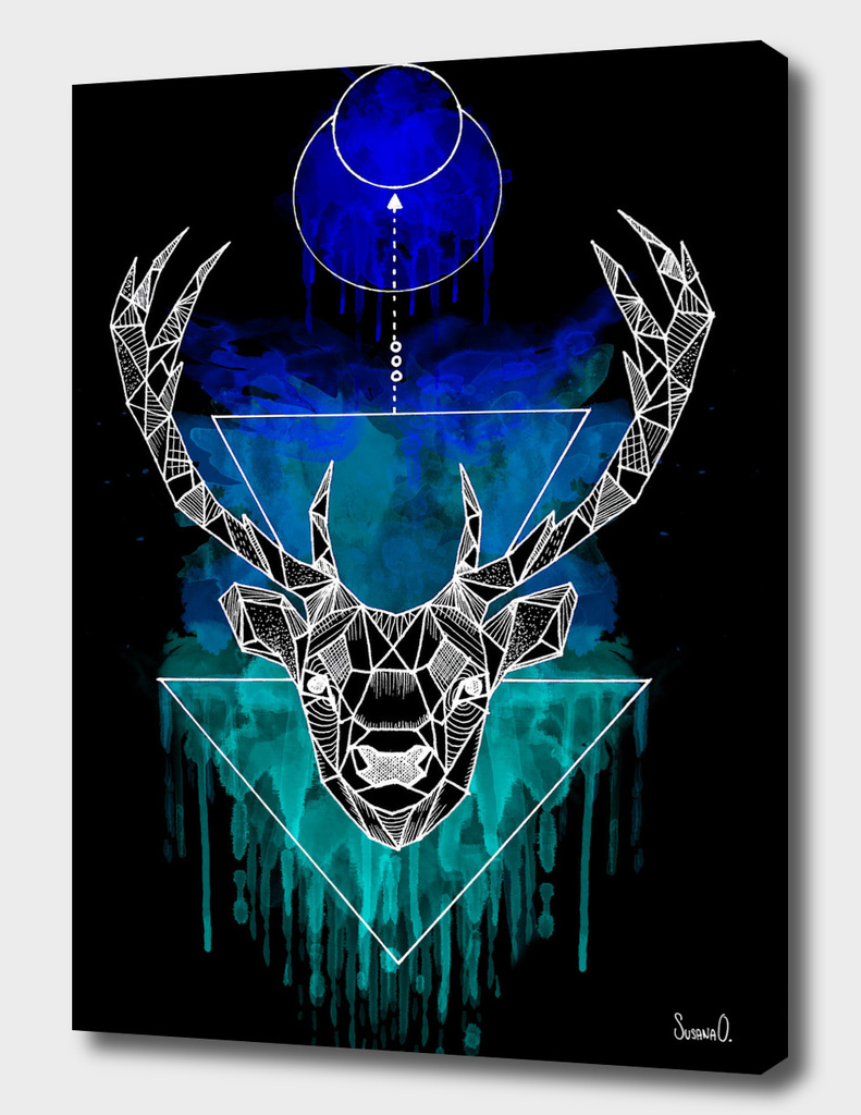 Animal Collection (Deer Negative Watercolor)