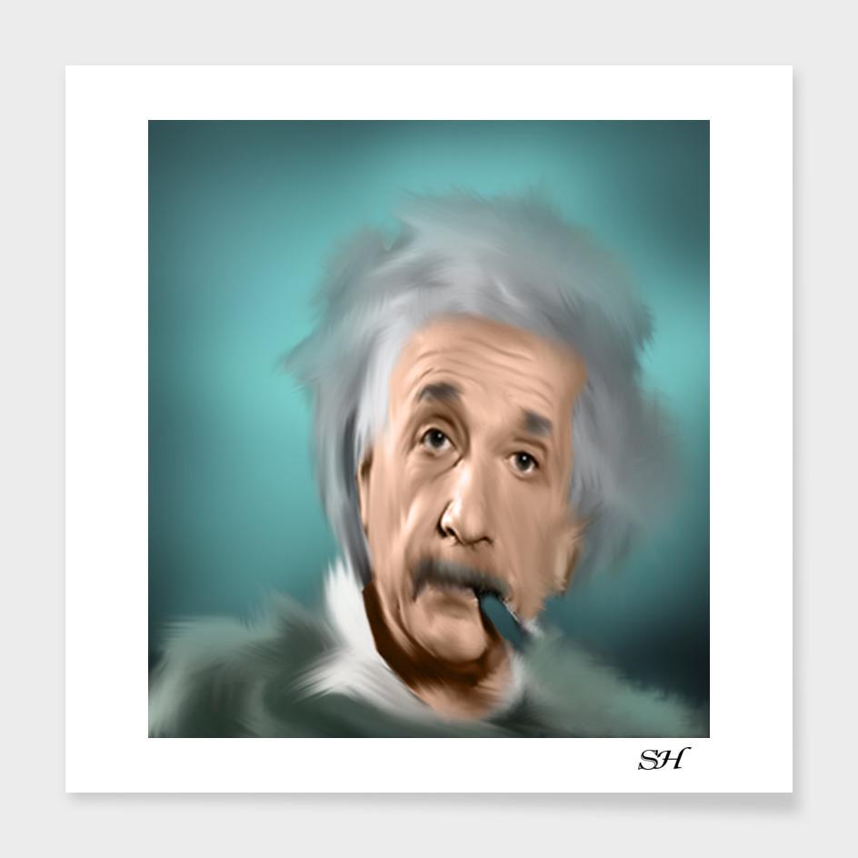 Albert einstein digital painting