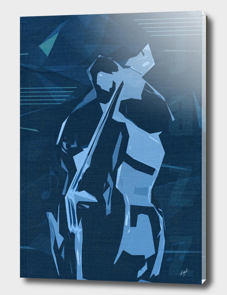 Jazz Contrabass Poster