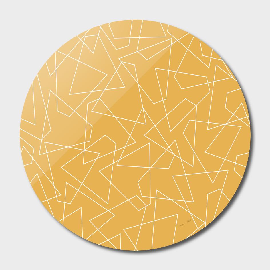 Abstract geometric pattern - bronze.